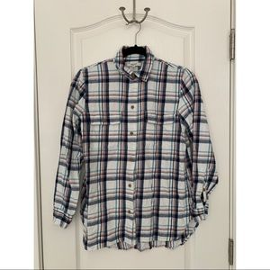 Madewell White Flannel Shirt S